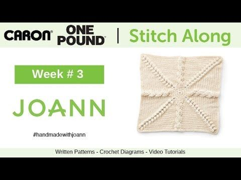 Crochet Spring Stitch Along with JOANN | The white red and