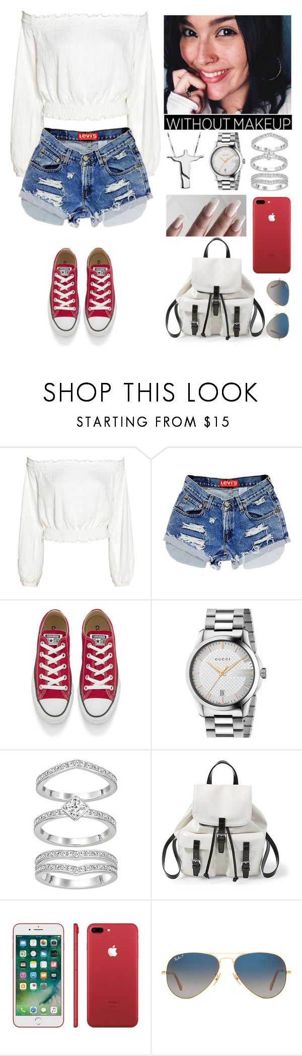"""""""A day with my boyfriend's kids."""" by annacastrolima ❤ liked on Polyvore featuring Converse, GET LOST, castro, Gucci, Steve Madden, Ray-Ban and comfy"""