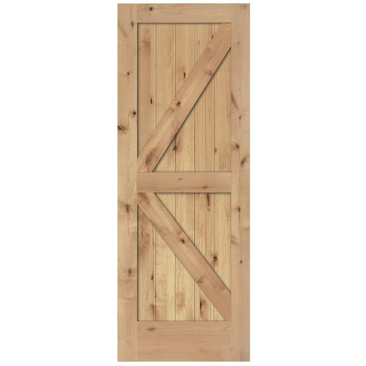 Steves Sons 36 In X 80 In 2 Panel Solid Core Unfinished Knotty Alder Interior Barn Door Slab