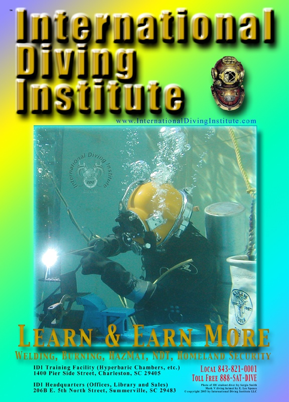 Poster for the International Diving Institute (IDI)