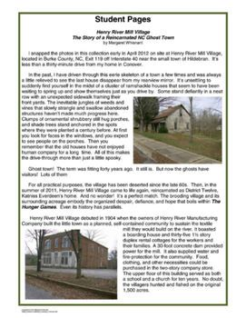For fans/teachers of The Hunger Games:  Photos from District Twelve with history of Henry River Miller Village, NC - images can be used commercially