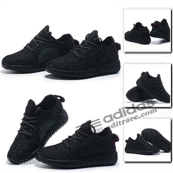 "Adidas Yeezy Boost 350 ""Pirate Noir"" Dernier Chaussure Enfant Noir :aditrace"