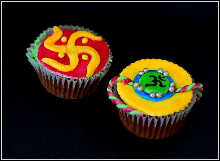 Rakhi cupcakes #niceidea #rakhi