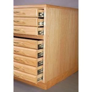 Medium Oak Steel Drawer Guide Flat File Cap (Product Catalog: Storage) by SMI. $263.97. Medium Oak Steel Drawer Guide Flat File Cap Same great SMI flat files now offered with ball bearing steel drawer guides. Drawer fronts are fitted with brass pulls. File units caps and bases all sold separately. Drop shipped.