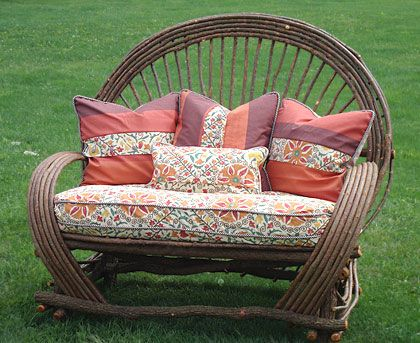 Around The Bend Willow Furniture :: Loveseat :: Seating