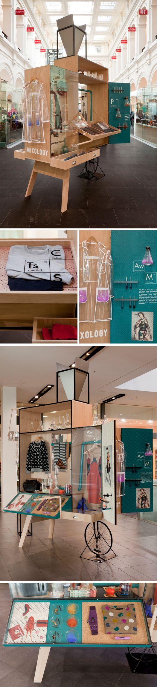 a series of curious carts that house a fashion infused experiment. instead of booths, lets use carts! if concept fits
