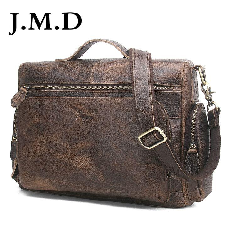 84.64$  Buy now - http://alili0.shopchina.info/1/go.php?t=32798921169 - J.M.D Genuine Leather Men Bag Vintage Totes Handbags Men Messenger Bags Briefcase Men's Travel Bags Shoulder Bag  #shopstyle