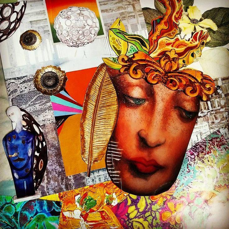 54 - ABUNDANCE MINDSET - 90 Day Collage Challenge #collageforselfdiscovery #collageartist #collageart #shelleyklammer #artheals #intuitiveartist #intuitiveart #expressiveartworkshops #90daycollage #cutandpaste #intuitivecollage #artjournaling #arttherapy #expressiveart