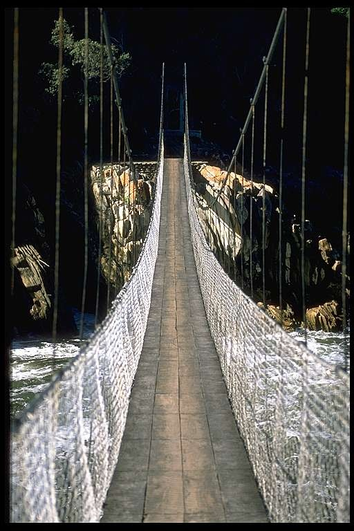 Suspension Bridge  Western Cape, South Africa, May 1988