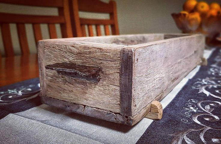 rustic centerpiece box made from old fence palings