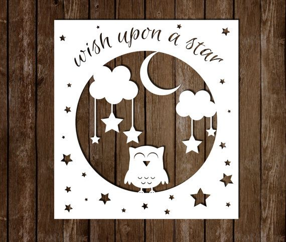 Personal Use Paper Cutting Template Wish Upon A by SmallBirdCrafts