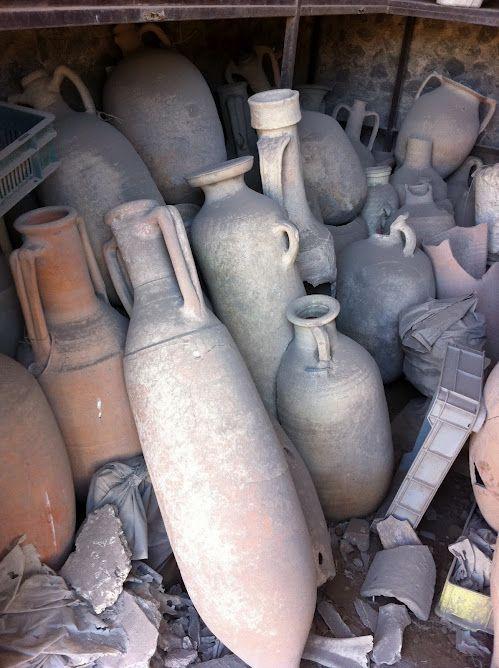 Wine vessels of Pompeii