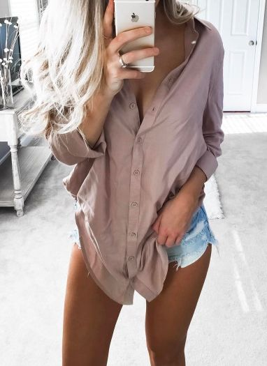 x Button up | Neutral | Shorts | Summer | Outfit
