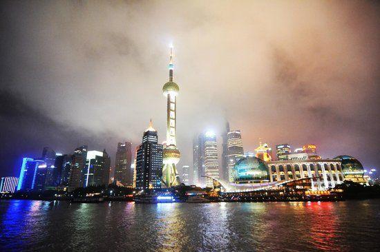Optional Tour #6: Huangpu River Night Cruise on day 8 - Shanghai - $50