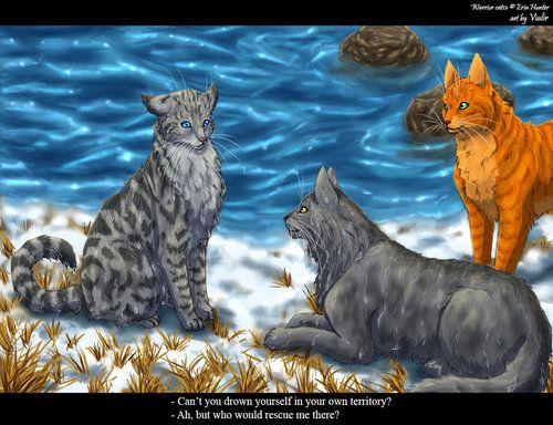 Fire Heart Gray Stripe And Silver Stream Warrior Cats