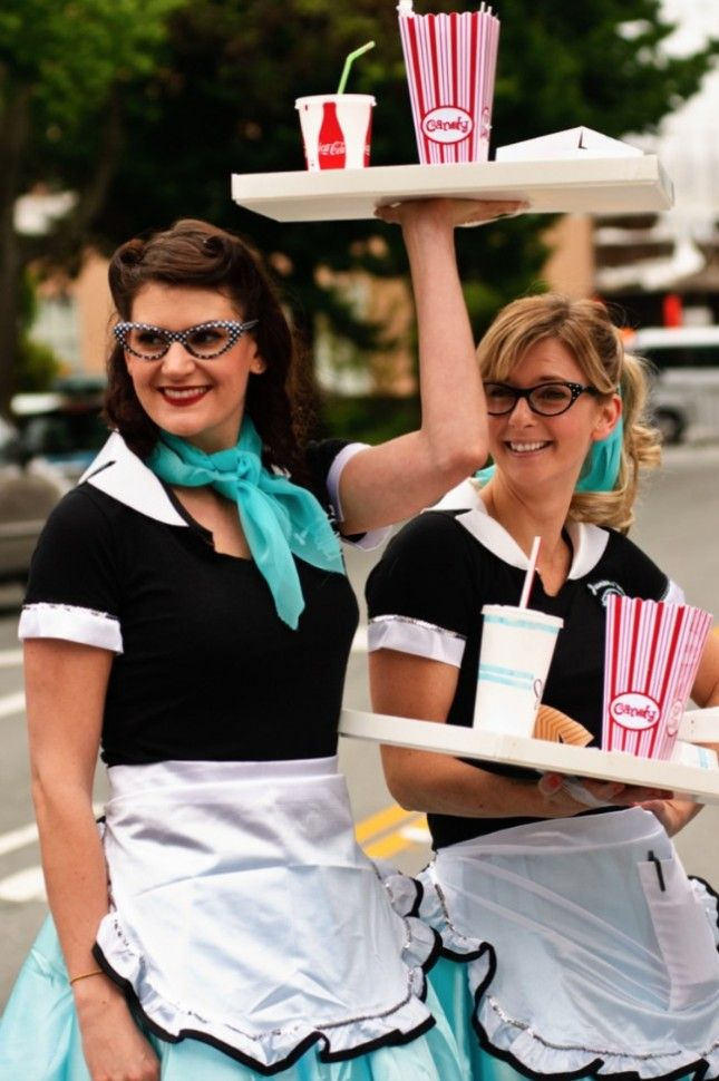 Put on your roller skates and dress up as a car hop girl this Halloween.