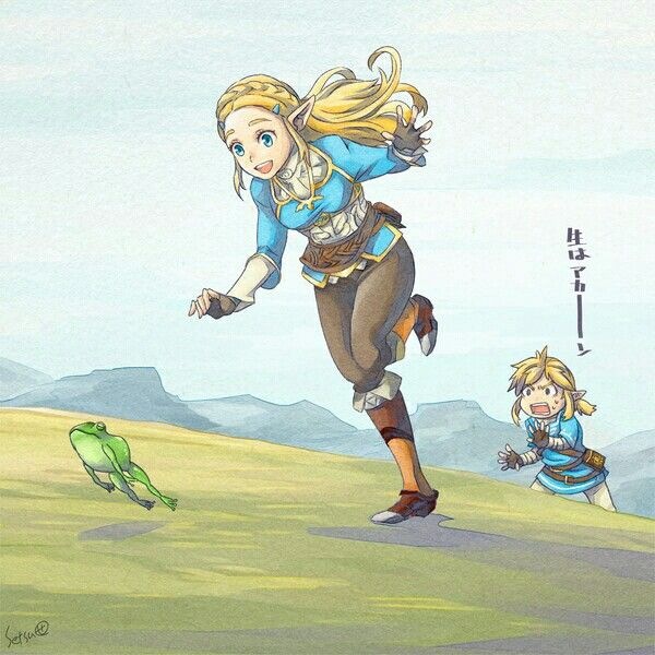 Leave That Poor Frog Alone, Botw Zelda!