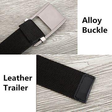 140CM Unisex Men Women Military Solid Belt Adjustable Buckle Weave Canvas Waistband Pants Strip at Banggood