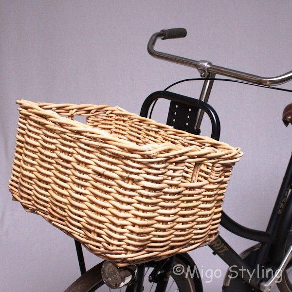 Rieten fietsmand natural? Bestel online - MigoStyling