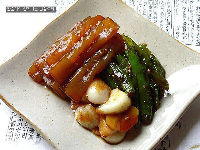 [꽈리고추곤약조림]쫄깃쫄깃 탱글탱글 쫀득한 식감좋은 곤약조림 – 레시피 | Daum 요리