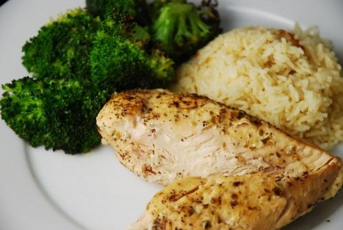 Lemon Garlic Slow Cooker Chicken Recipe – 3 Points + - LaaLoosh Entire recipe makes 6 servings Serving size is 1 chicken breast Each serving = 3 Points +