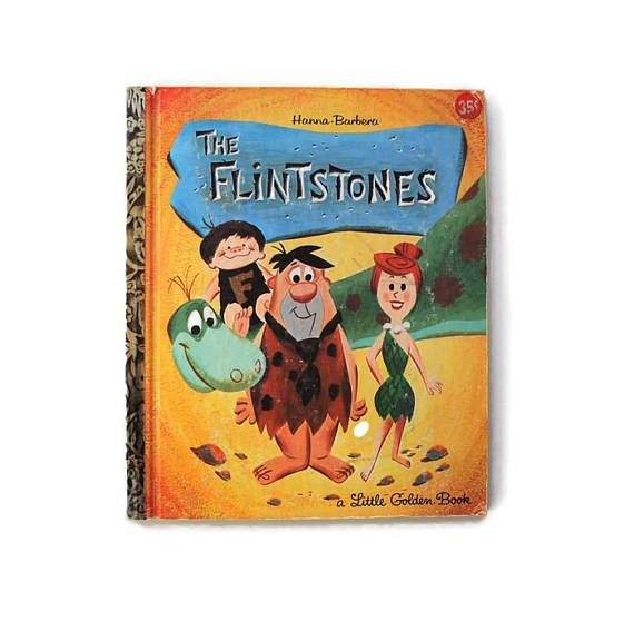 Vintage Book The Flintstones A Little Golden Book First