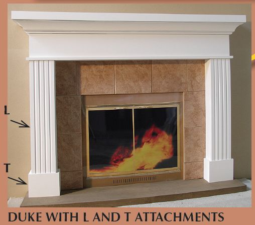Fluted Fireplace Fluted Leg Facing L Fireplaces