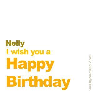 Happy Birthday, Nelly!
