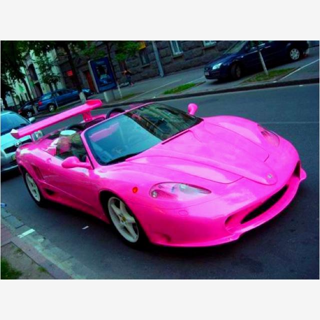 Wow nice PINK car! ;)