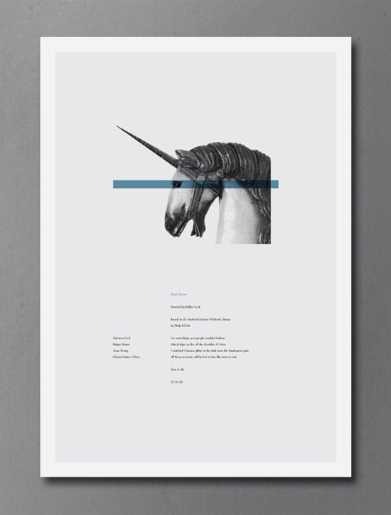 """DANIEL GRAY, BLADE RUNNER POSTER 2011: a2, limited edition print of 100. """"smells lovely."""""""