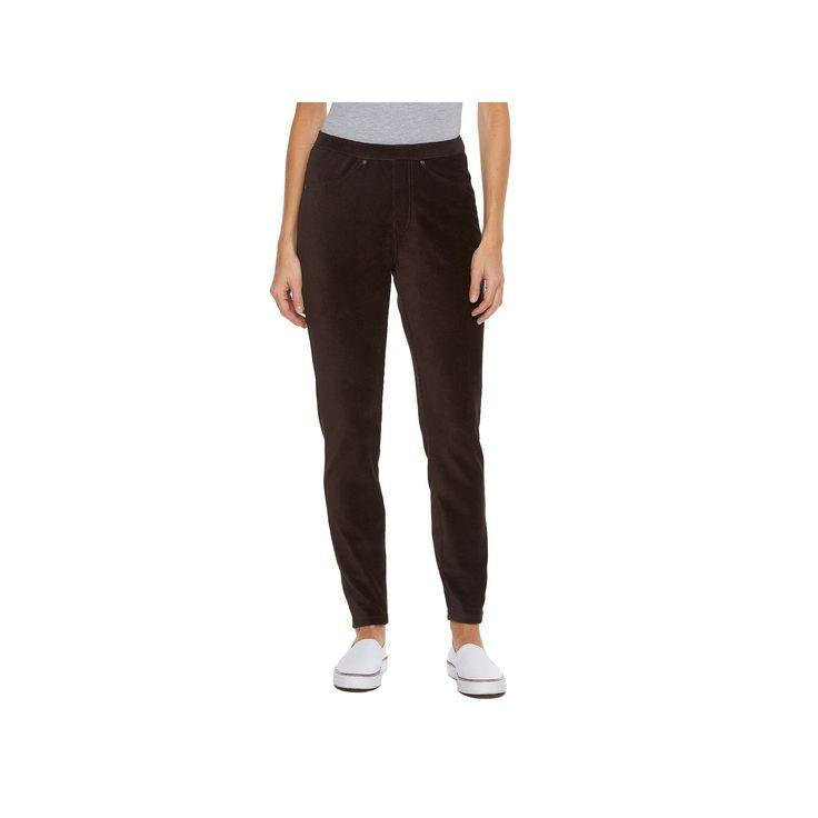 Women's Croft & Barrow® Corduroy Leggings, Dark Brown