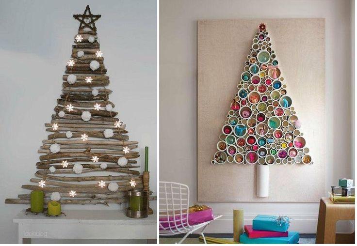 Si vives en un piso pequeño, lo mejor es optar arboles de pequeño tamaño o que podamos pegar en la pared.