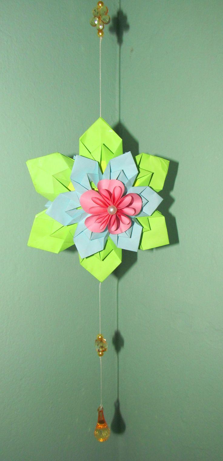 Mobile flor de origami