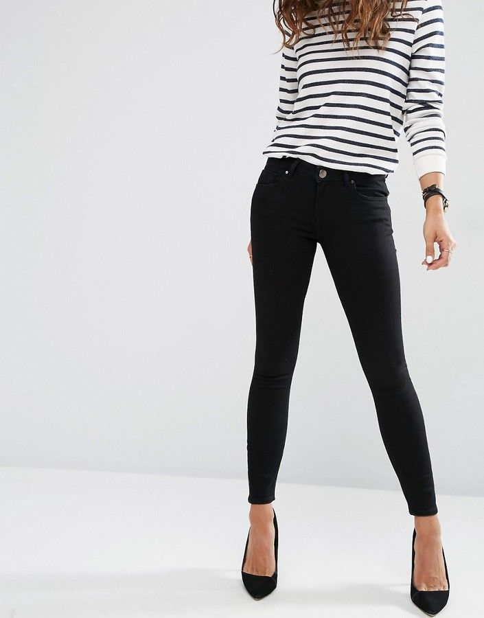 Pinterest board: @desi_galapagos   ASOS Whitby Low Rise Skinny Jeans In Clean Black