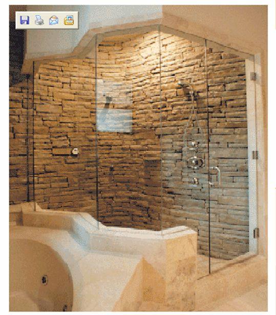 Natural stone bath & shower