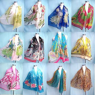 US-Seller-lot-of-10-boho-vintage-retro-chiffon-wrap-shawl-Wholesale-Scarves