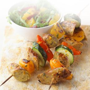 Why not swap the Sausages in your kebab for our flavour-packed Quorn Parsley and Wild Garlic Sausage version. Great for BBQs or a quick and easy snack.