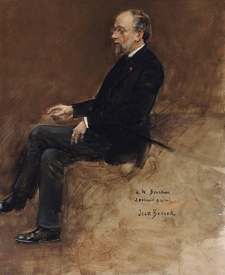 Portrait of Hippolyte Taine - Jean Béraud - French - 1889