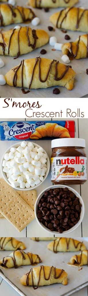 These S'mores Crescents are SO good. Only take 15 minutes to make!