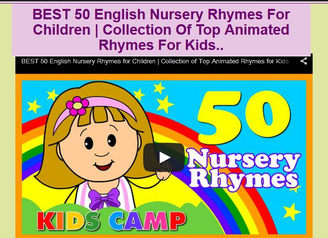BEST 50 English Nursery Rhymes For Children | Collection Of Top Animated Rhymes For Kids
