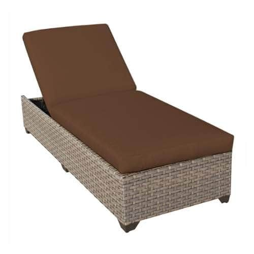 Miseno MPF MNTR1X Pacific West Aluminum Framed Outdoor Chaise Lounge Chair  (Cocoa (Brown