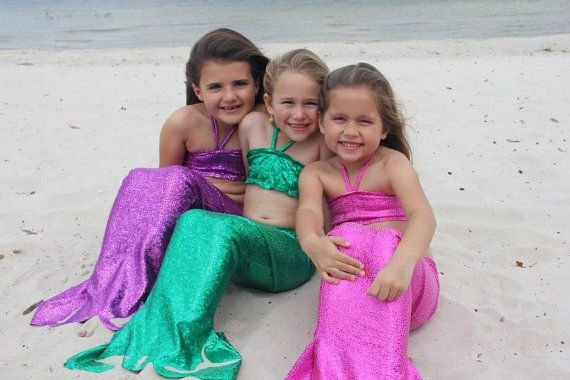 Custom Boutique Mystical Magical Mermaid Tail by littlebowtangles, $45.95
