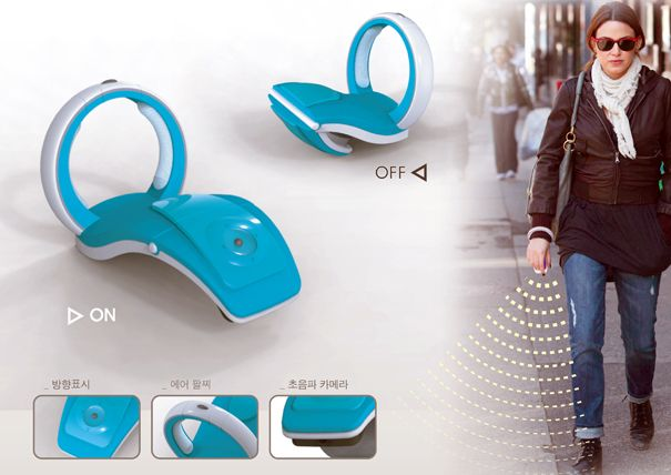Supersonic Stick On The Wrist For Blind People By Minhye