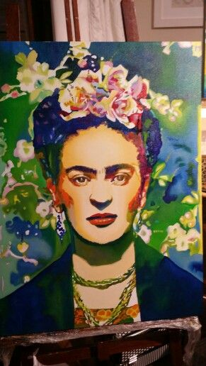 Minha Frida Kahlo pintada à óleo sobre tela. .. pronta para visitar a dona...