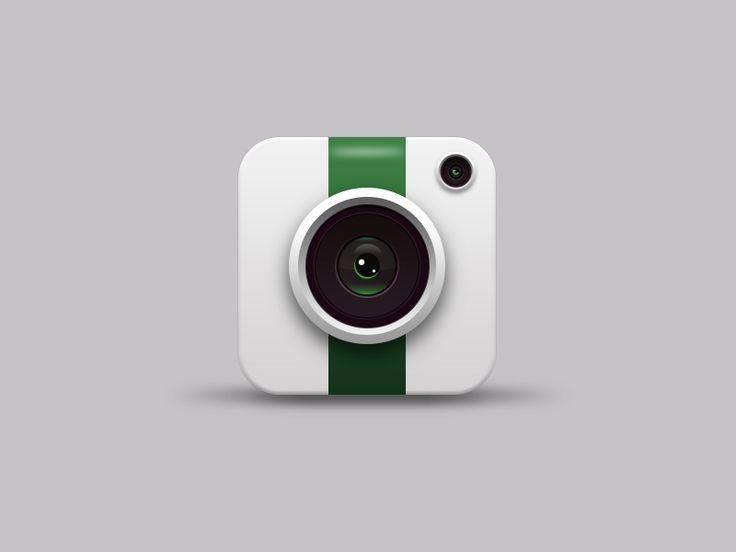 Realistic camera icon
