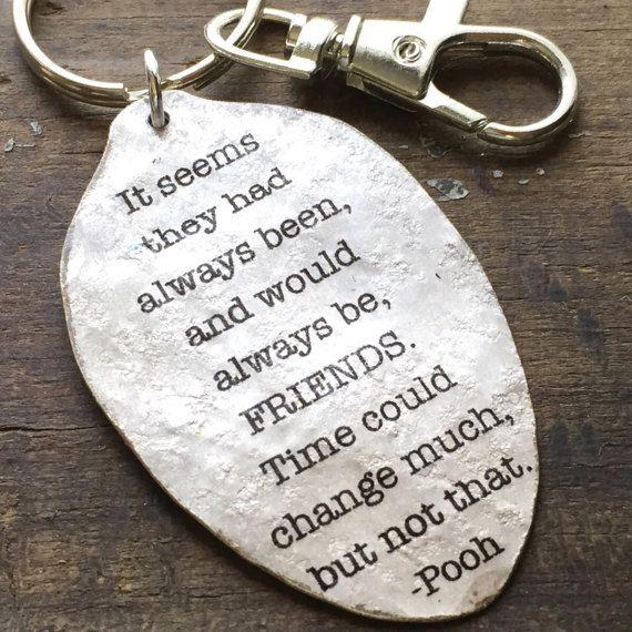 ee57c0a290 Winnie the Pooh Keychain, Best Friends spoon key chain, Best Friend ...