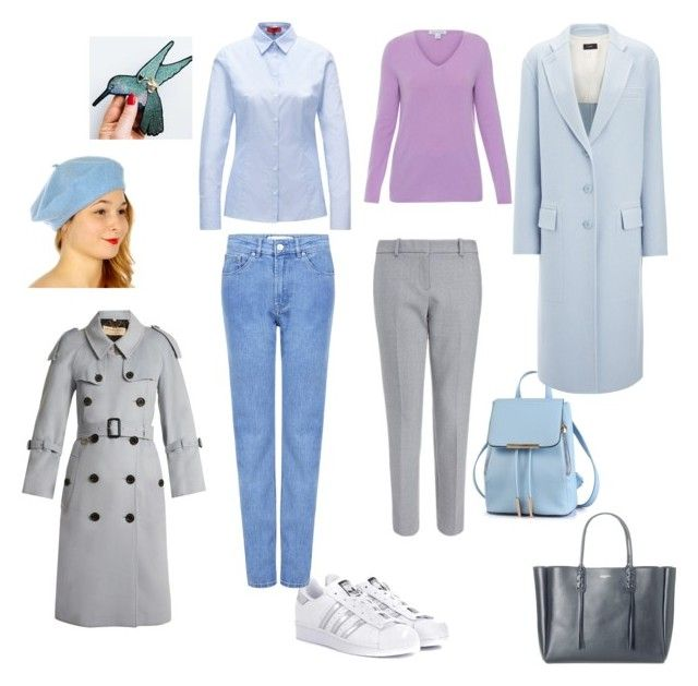 """Кежуал"" by sevostianova-e-a on Polyvore featuring Belford, Burberry, Lanvin, adidas Originals, Être Cécile and Joseph"