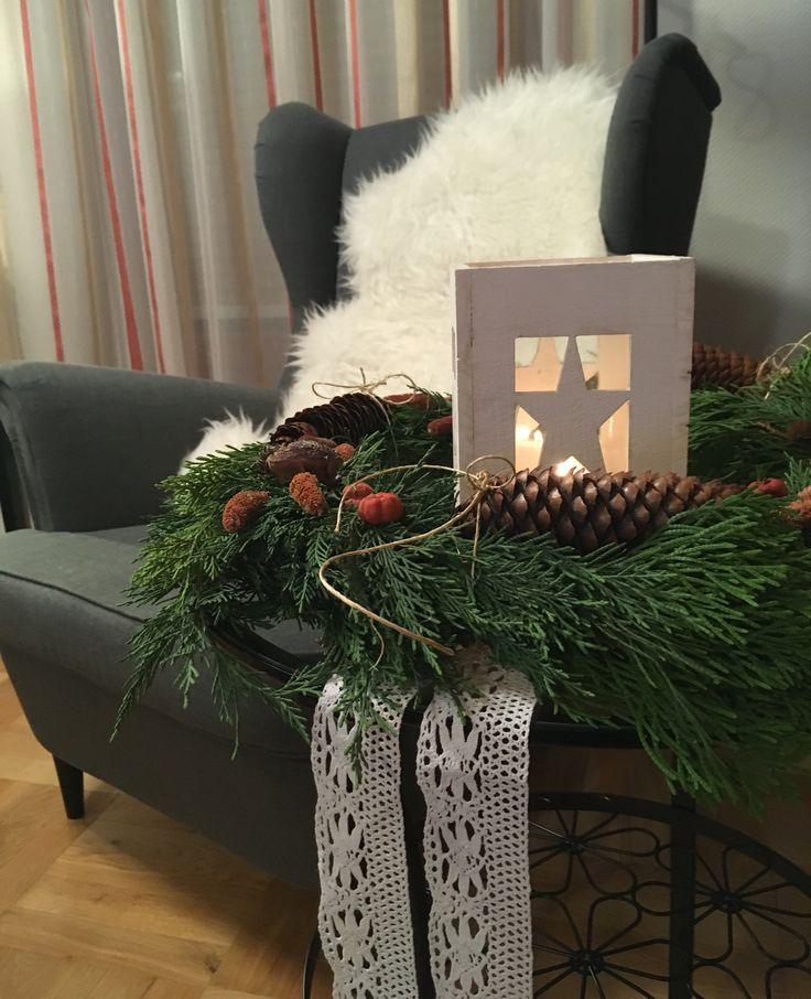 Rustic winter decoration