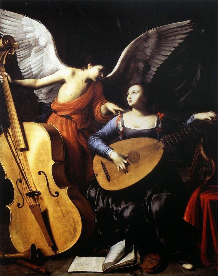 C. Saraceni, Santa Cecilia e l'Angelo, 1610, olio su tela, Galleria Nazionale di Arte Antica, Roma