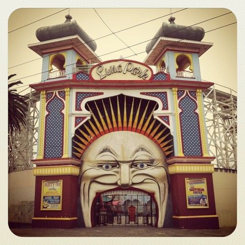 Luna Park, St. Kilda, Melbourne This was the closest thing we had to Disney Land
